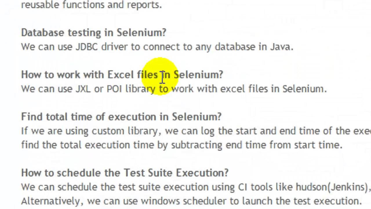 advanced selenium webdriver interview questions and answers for experienced youtube - Librarian Interview Questions For Librarians With Answers