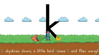 Handwriting Heroes Skydivers, Handwriting for kids - Learn to Write Lowercase Letter k!