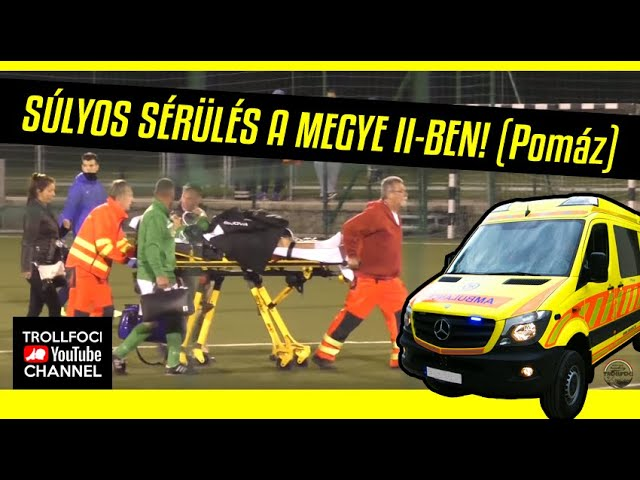 SÚLYOS SÉRÜLÉS A MEGYE II-BEN!!! (Pomáz) - TrollFoci S02E06
