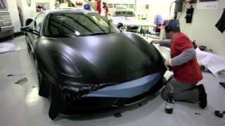 Оклейка автомобиля пленкой, как оклеить феррари в матовую пленку