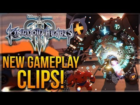 NEW Kingdom Hearts 3 Gameplay Clips - Limits, Link Summons, Gummi Ship and More (No Spoilers)