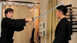 How to Do a Basic Sword Cut | Ninjutsu Lessons