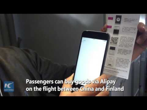 Go shopping in the air! Finnair passengers can make payment via China's Alipay