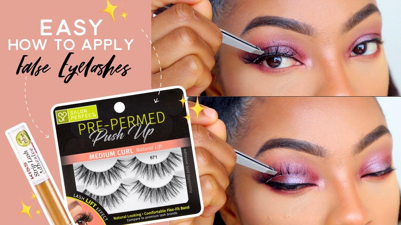 How To Apply False Eyelashes   Falsies   Salon Perfect Pre ...