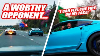 800HP FLAME-SPITTING FORD GT VS STREET SPEED 717'S INFAMOUS CORVETTE ZR1! (RIP Mike's left ear lol)