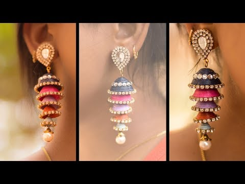 How to make Paper Earrings | made out of paper | Art with Creativity