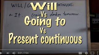 INGLÉS 22a- Diferenciar Will-Going To-Pr. Continuous. Inglés para hablantes de español.