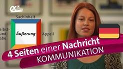 Die 4 Seiten einer Nachricht (Schulz von Thun) - Kommunikation | alpha Lernen erklärt Deutsch