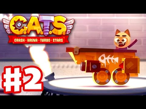 CATS: Crash Arena Turbo Stars - Gameplay Walkthrough Part 2 - Surfer Champion! Wooden League! (iOS)