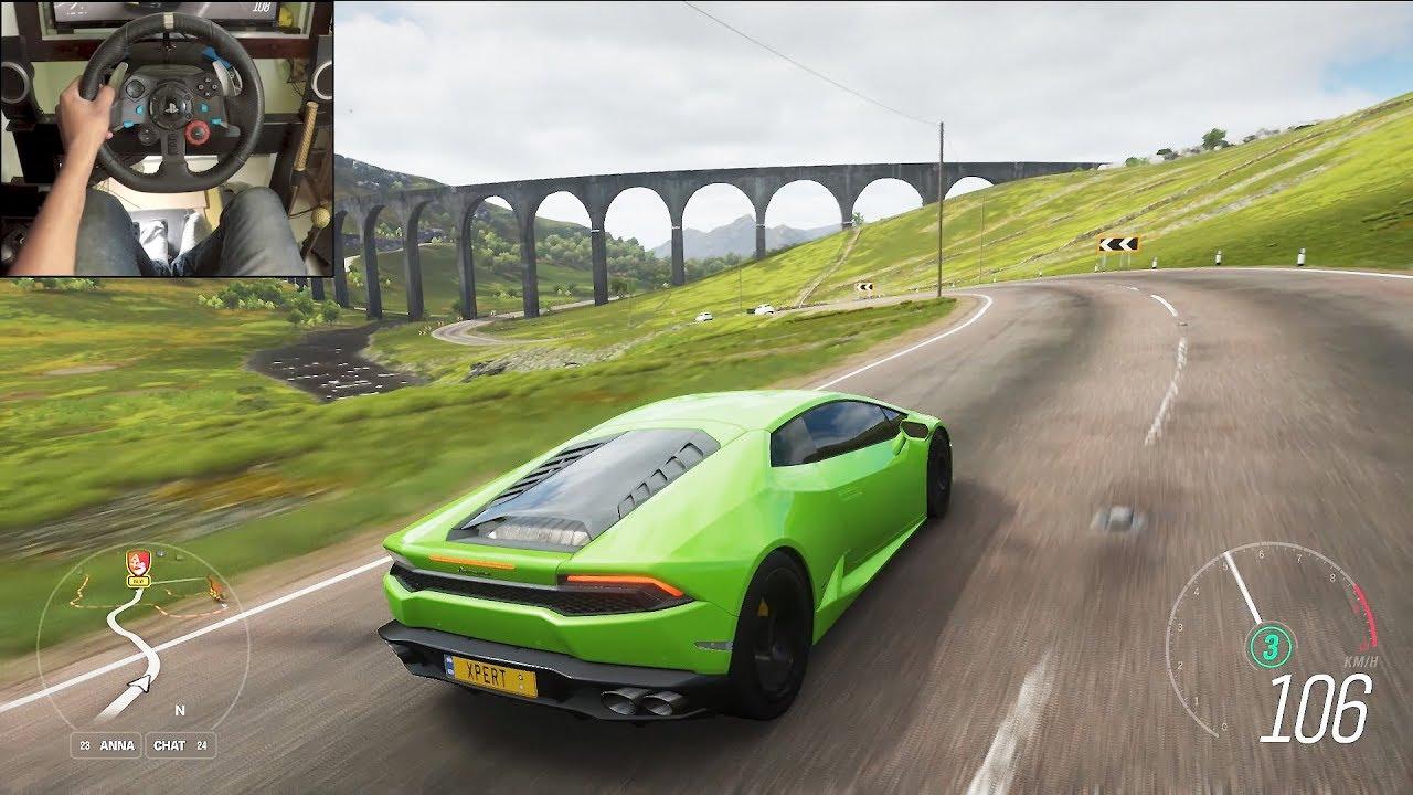 Lamborghini Huracan Forza Horizon 4 Logitech G29 Gameplay Youtube