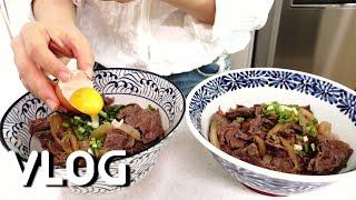 [집밥 요리 브이로그] 소고기 덮밥 (규동), 잡채, …