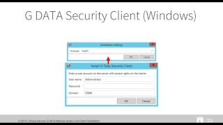 Installing the G DATA Security Client with version 14