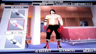 wwe svr2011 PS2 AJ Styles oluşturma Yeni caw