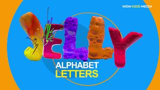 BEST JELLY LETTERS.   LEARN ALPHABET.   ALPHABET SONG.