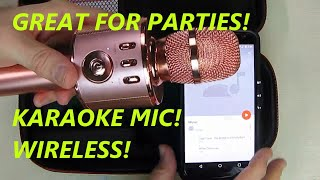 REVIEW VERKB Wireless Karaoke Microphone H15 Built-in Magic Sound Bluetooth for Smartphone