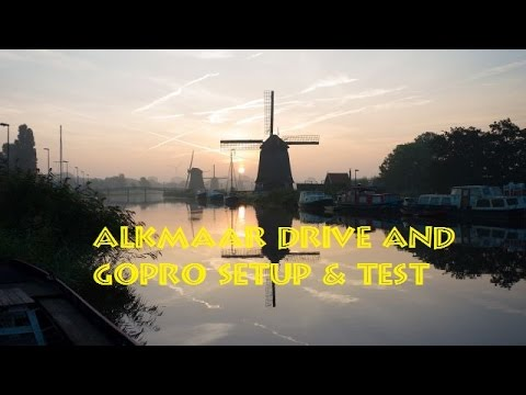 Alkmaar Tour at night and GoPro setup & test for France ( Mitsubishi Lancer Wagon 1999 ) April 2016
