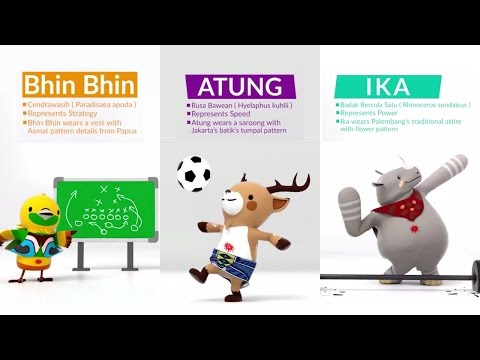 MASCOT 3D ASIAN GAMES 2018 INDONESIA (OFFICIAL VIDEO)