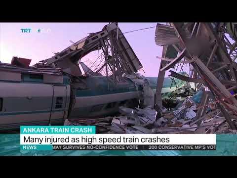 high speed train crashes in ankara