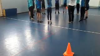 Урок физической культуры, волейбол, 7 класс