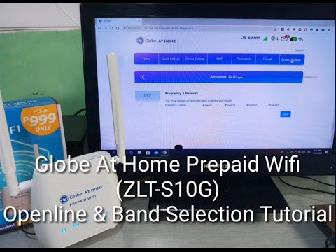 Globe At Home Prepaid Wifi (ZLT-S10G) Openline & Band Selection Tutorial