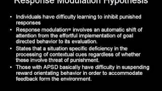 Anti social Personality Disorder and Motivation