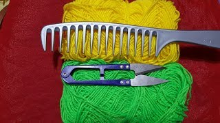 Hand Embroidery // Easy Trick Wool Thread Flower Trick design Hand Stitch