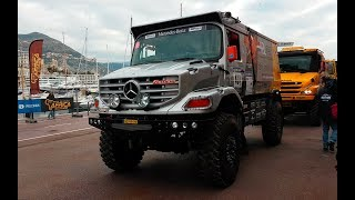 Monaco - Dakar Africa Eco Race 2018 TRUCKS - 4K   PART 2