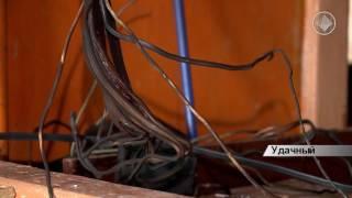 видео Пожар в Удачном, город остался на неделю без света