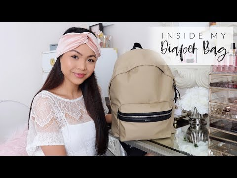What's In My Diaper Bag? - YSL City Backpack