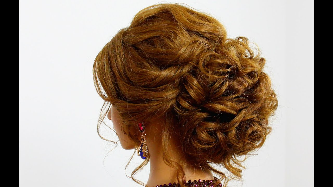 Hairstyle for long hair. Prom updo YouTube