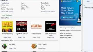 Listen to internet radio with WMP12 on Windows 7