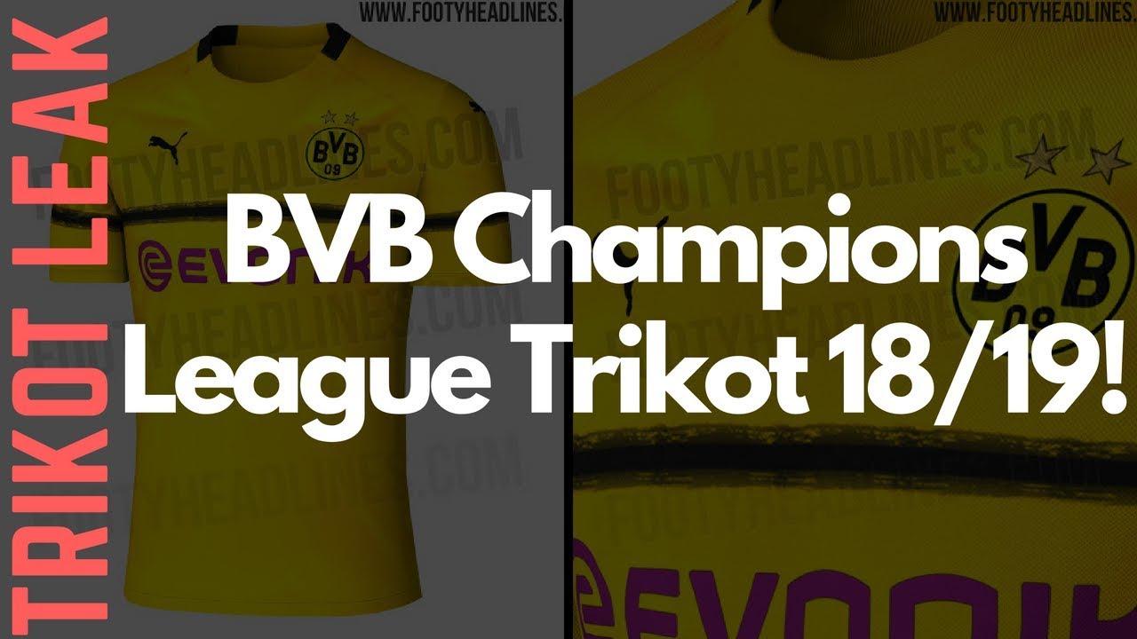 GELEAKED! Das BVB CHAMPIONS LEAGUE Trikot 2018 19! (International ... 12238c571