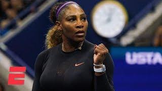 Serena Williams advances to semifinals after dominating Qiang Wang   2019 US Open Highlights