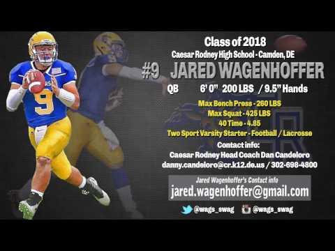 Jared Wagenhoffer 2016 Highlights, Caesar Rodney High School