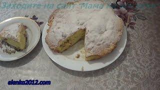 Пирог с яблоками быстрого приготовления