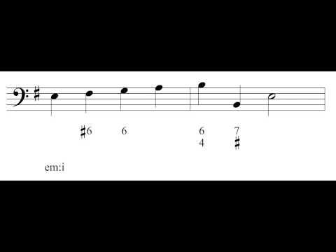 Music Theory 1 - Video 23: Figured Bass.
