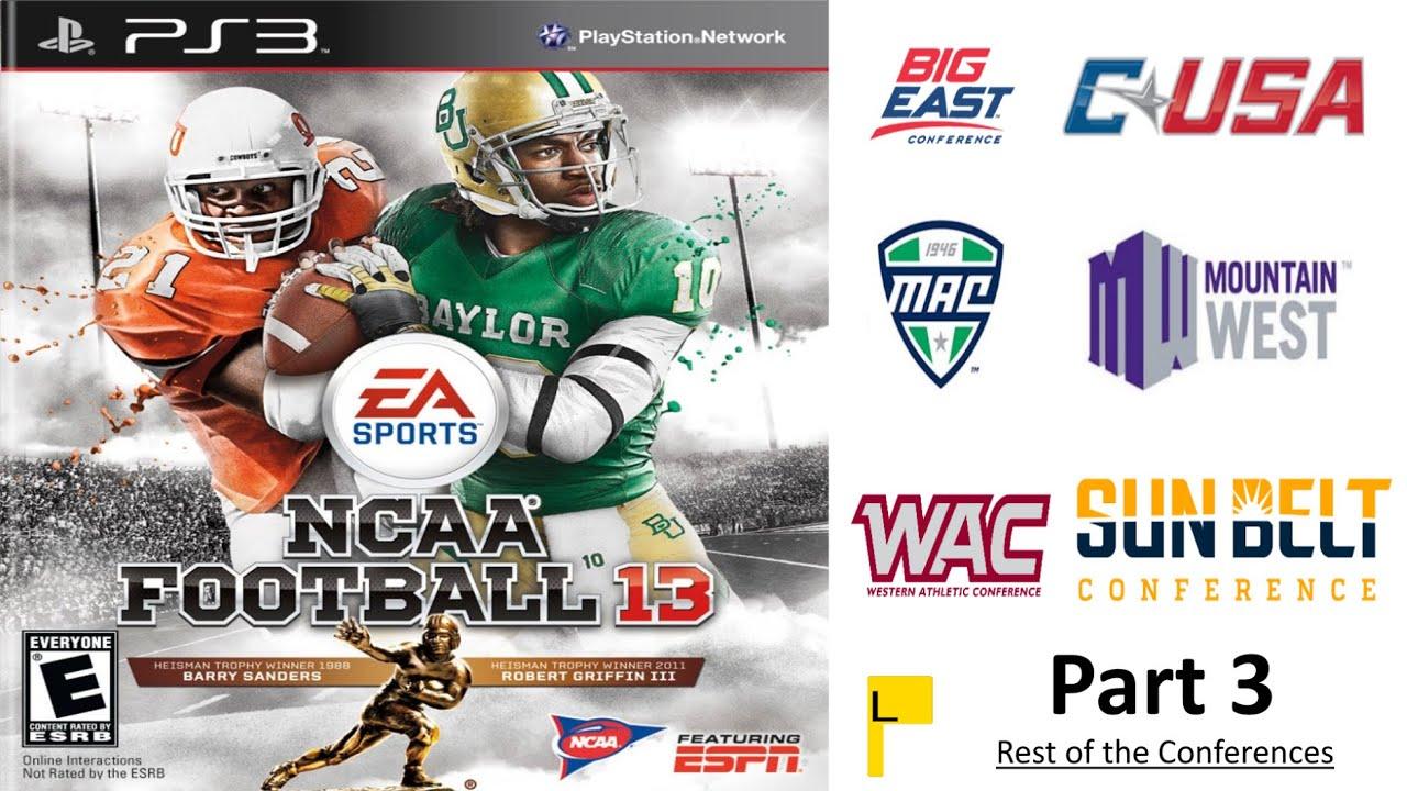 NCAA Football 13 Stadiums Part 3: Other Conferences (BigEast, SunBelt, MAC, CUSA, MountainWest, WAC)