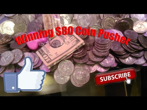 Winning $80 on Coin Pusher! | My Best Day at the Coin Pusher!