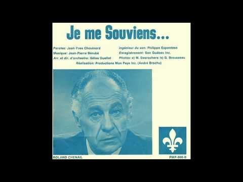 Je Me Souviens - Roland Chenail 1977