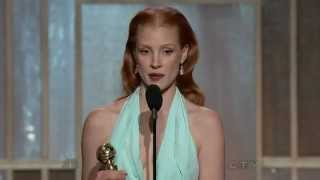 Jessica Chastain wins Best Actress - Golden Globes 2013