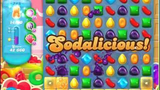 Candy Crush Soda Saga Level 743 no boosters