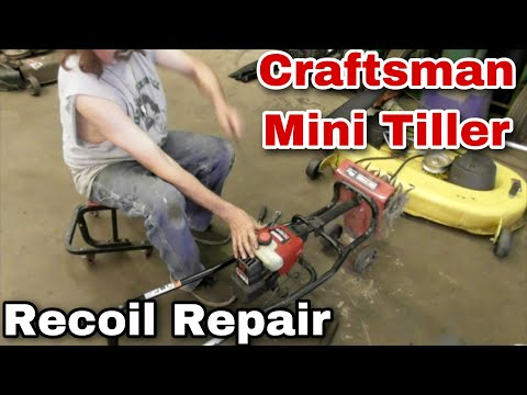 How To Repair The Recoil On A Craftsman Mini Tiller (P2 Technology) - With Taryl - Mower Medics