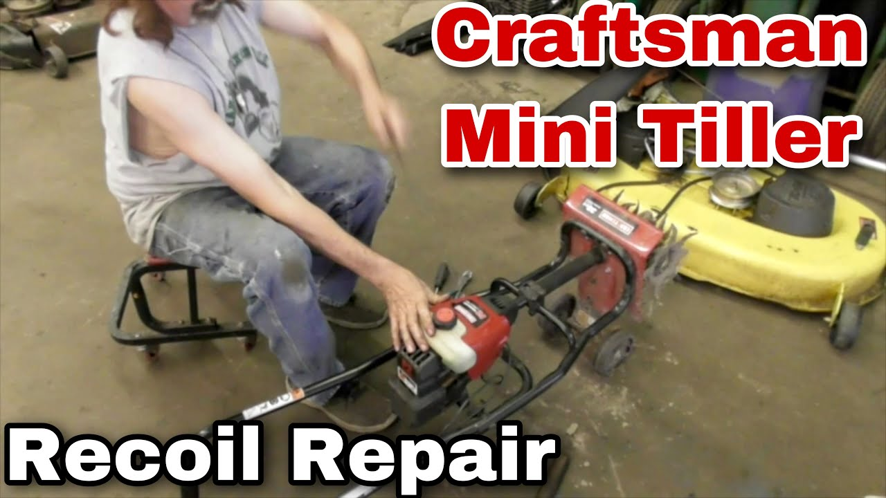 How To Repair The Recoil On A Craftsman Mini Tiller P2 Technology With Taryl Mower Medics