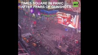 Times Square descends into panic after fears of gunshots