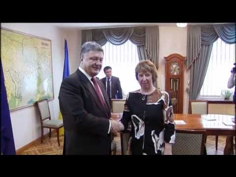 Minsk Summit: Ukrainian President Petro Poroshenko meets top EU diplomat Catherine Ashton
