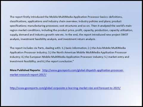 Global Mobile MultiMedia Application Processor Market Research Report 2017