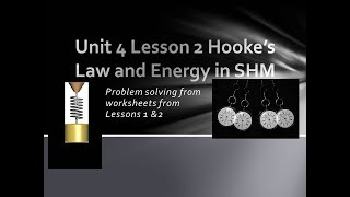 Physics 20 Hooke's Law and Energy Part 2