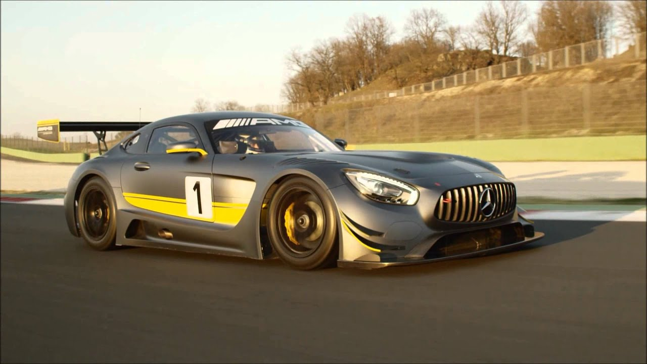 New Mercedes-AMG GT3 racing car - YouTube