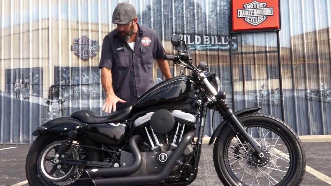 2008 Harley-Davidson Nightster with Vance & Hines Short Shots! - YouTube