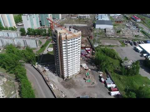 Навесной вентилируемый фасад от Компании ТимСпан. 2017, ЖК Октябрьская Ривьера, керамогранит.